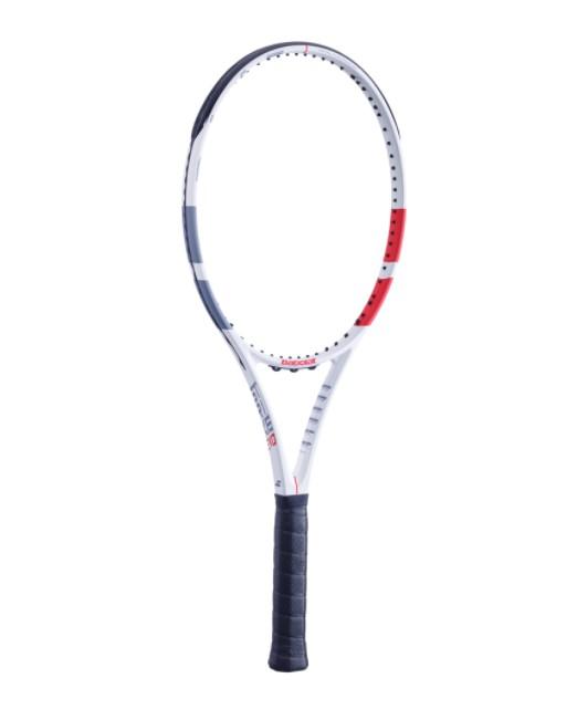 Raquete de Tênis Babolat Strike EVO - Branco/Vermelho  - REAL ESPORTE