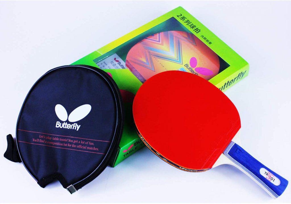 Raquete de Tenis de Mesa Butterfly  TBC 201 Yuki  + Raqueteira  - REAL ESPORTE