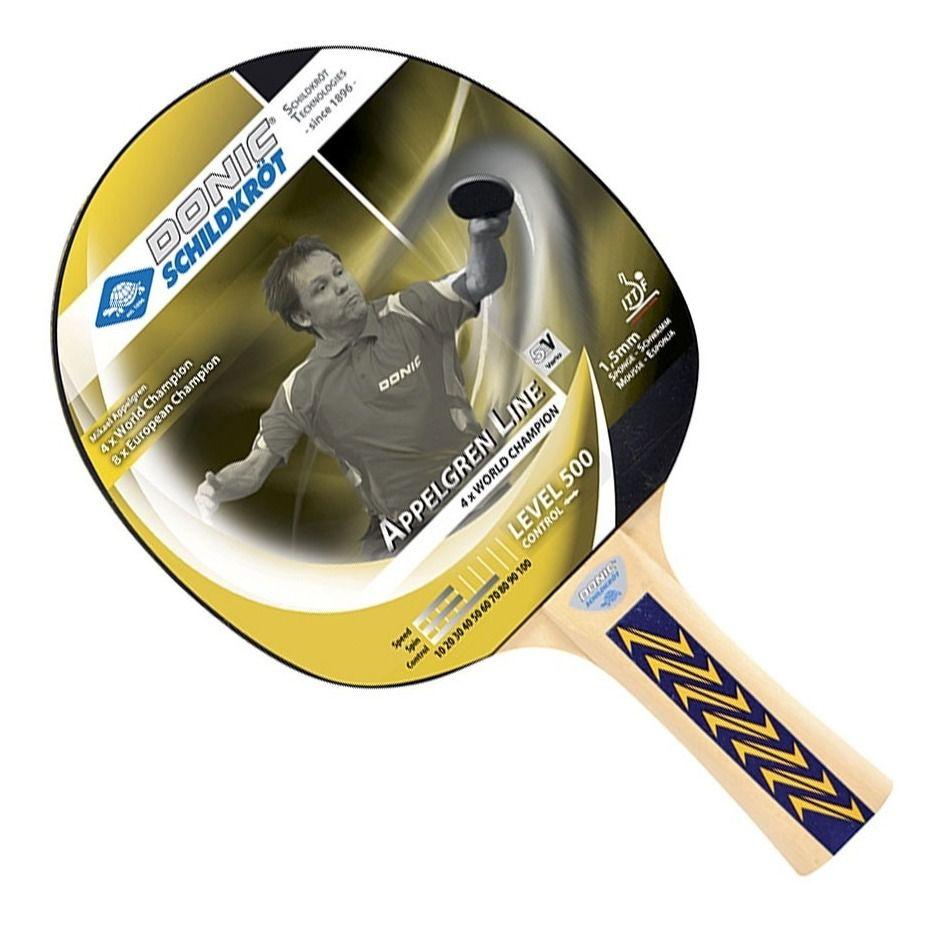 Raquete De Tênis De Mesa Donic Appelgren 500  - REAL ESPORTE
