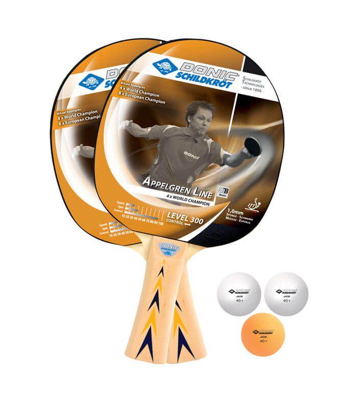 Raquete De Tênis De Mesa Donic Appelgren Line 300 - Kit  - REAL ESPORTE