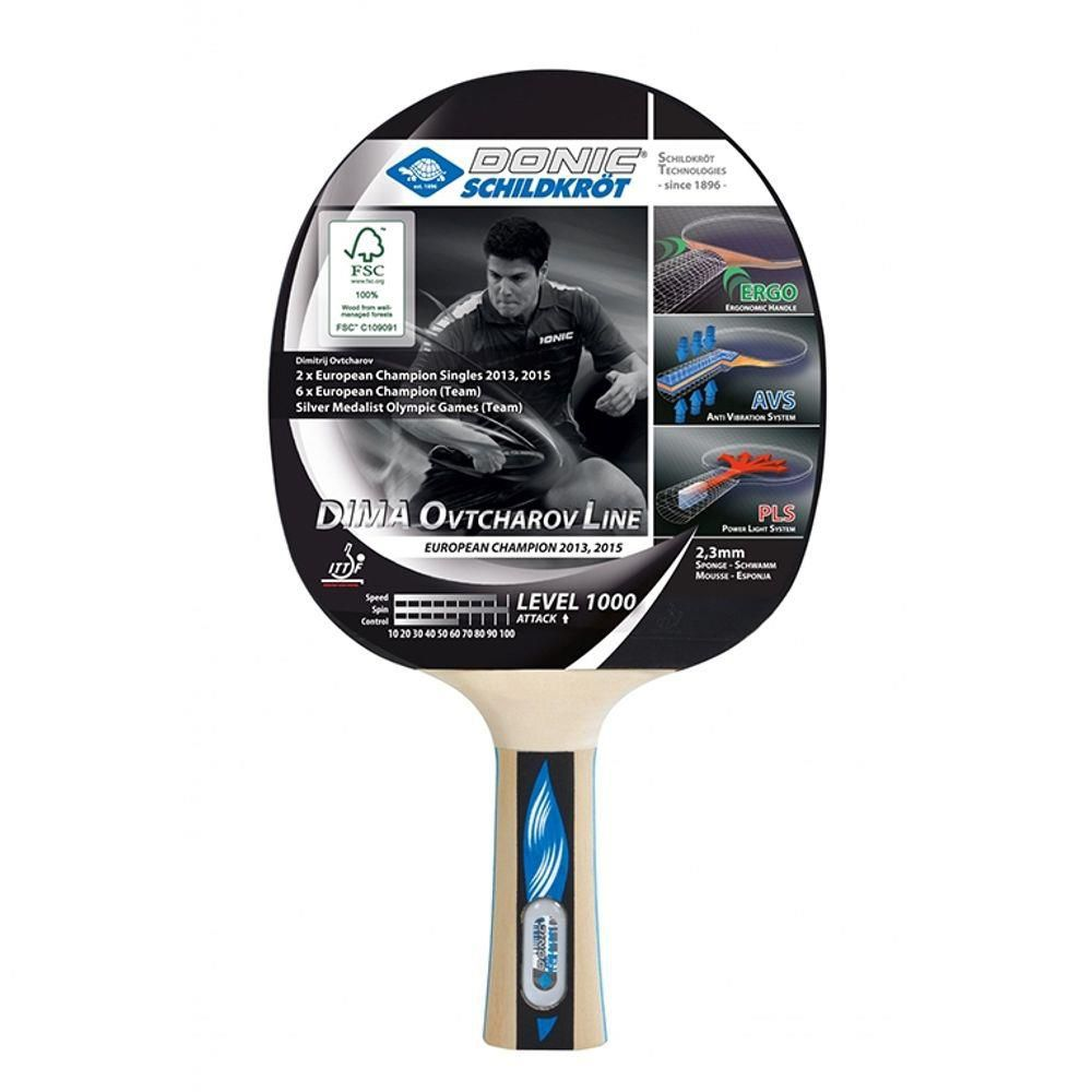 Raquete De Tênis De Mesa Donic Ovtcharov 1000  - REAL ESPORTE