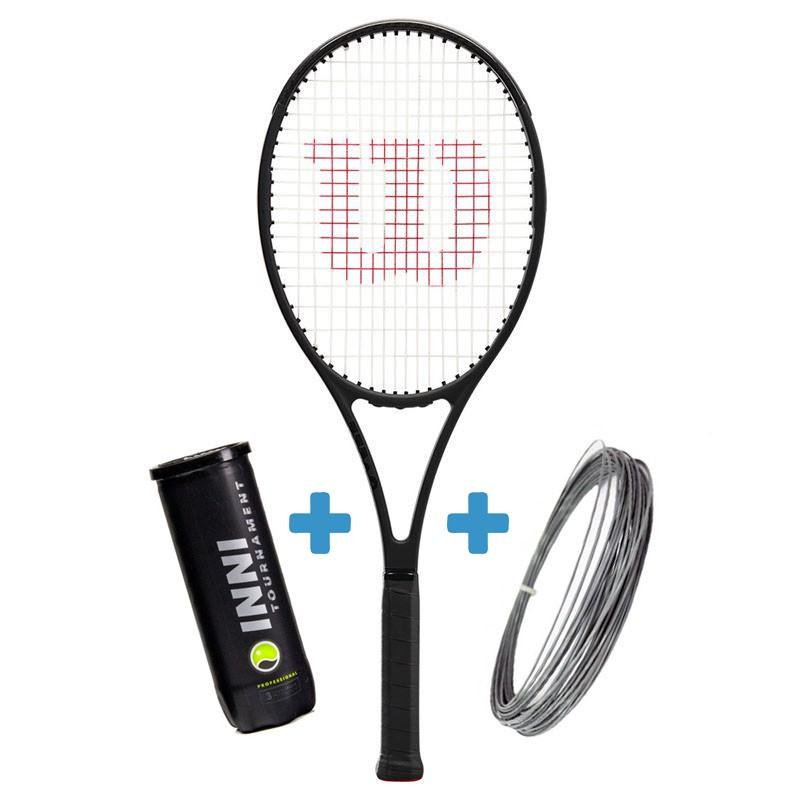 Raquete de Tenis Wilson Pro Staff 97L V13 + Corda e Bola de Brinde  - REAL ESPORTE