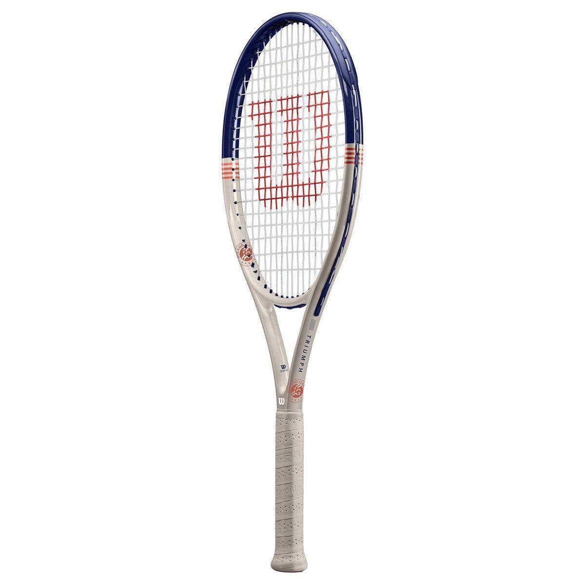Raquete de Tênis Wilson Triumph 2 Roland Garros 2020 + Tubo de Bola Inni  - REAL ESPORTE