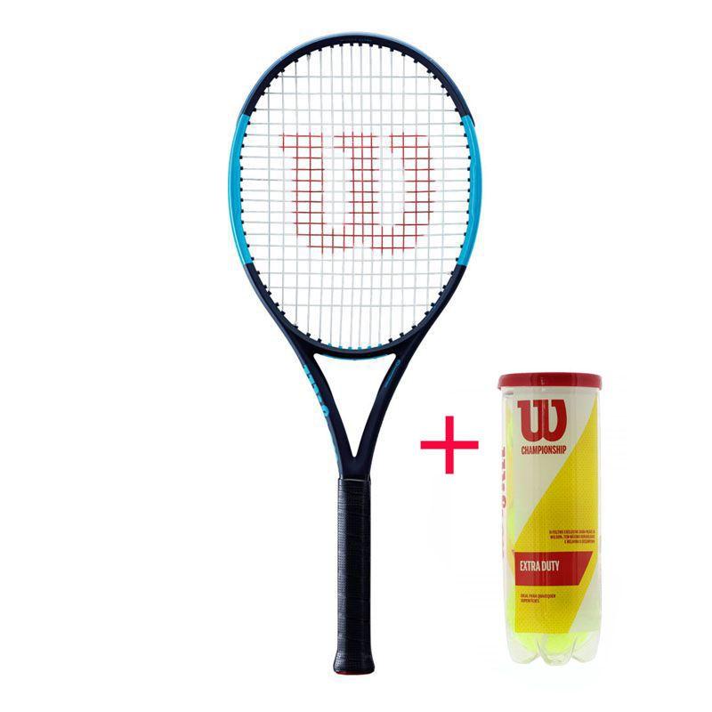 Raquete de Tênis Wilson Ultra 100 Countervail + Bola  - REAL ESPORTE