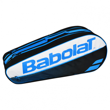 Raqueteira Babolat Holder X6 Club - Preto e Azul  - REAL ESPORTE