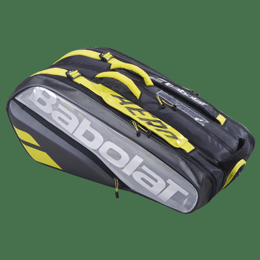 Raqueteira Babolat Pure Aero VS X9 Térmica- Amarela + 1 Tubo de Bola de Tênis  - REAL ESPORTE