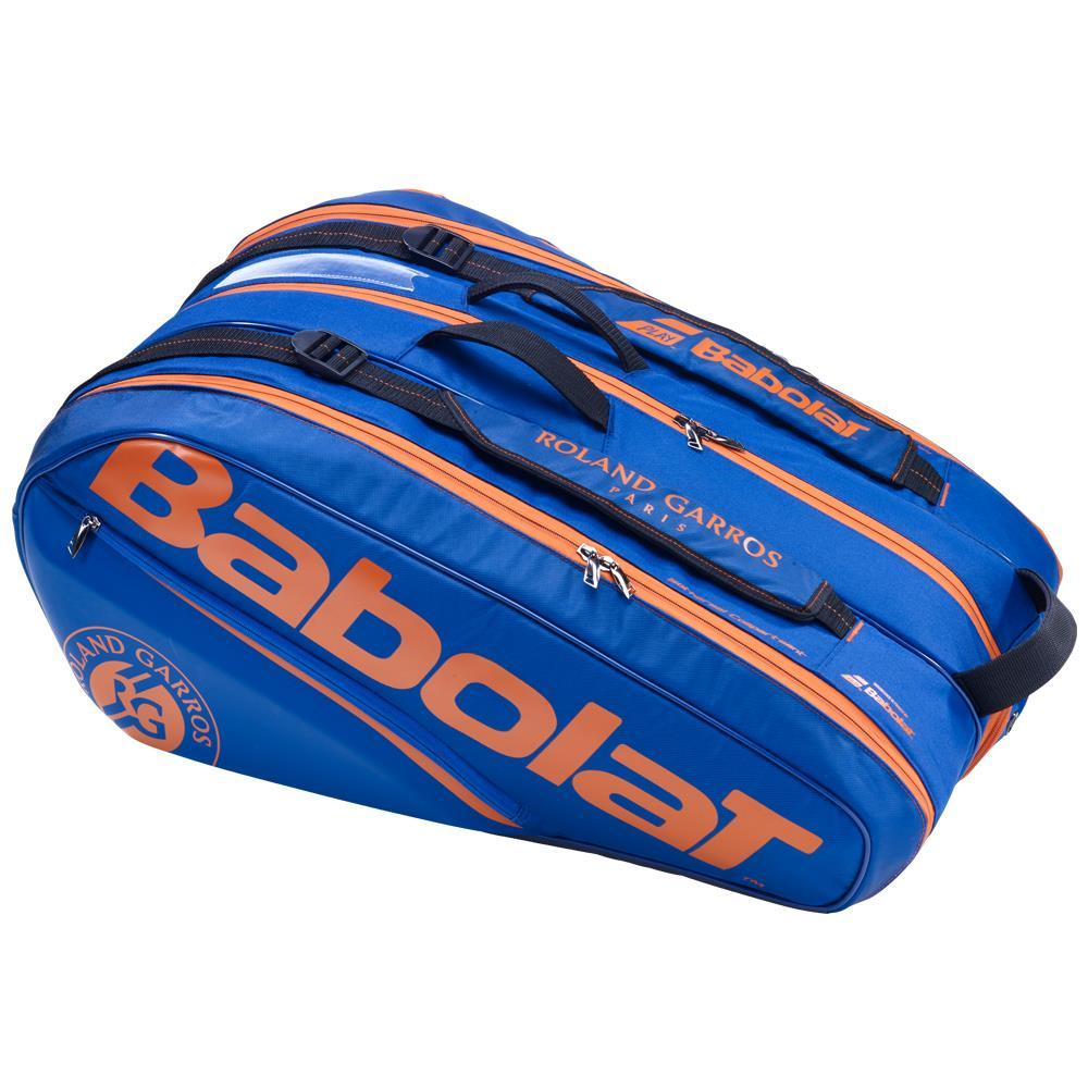 Raqueteira Babolat Pure Roland Garros x12 Azul Escuro e Laranja   - REAL ESPORTE