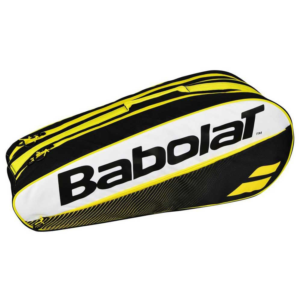 Raqueteira Babolat Racket Holder  X6 Club - Preto e Amarelo  - REAL ESPORTE
