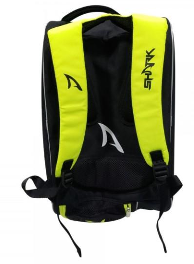 Raqueteira de Beach Tennis Shark - Preto/Verde  - REAL ESPORTE