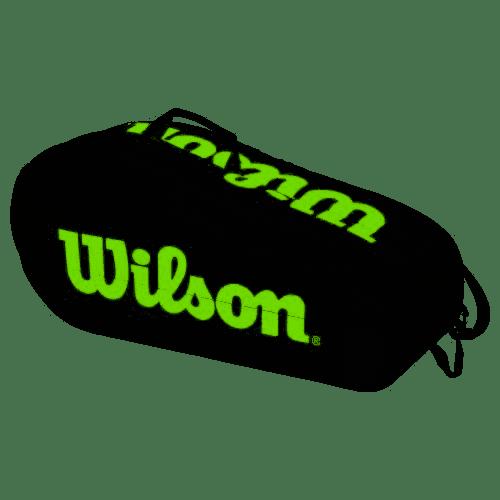 Raqueteira Wilson ESP Team X6 Preta e Verde   - REAL ESPORTE