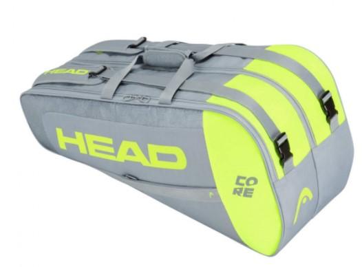 Raqueteira Head Core 6X Combi - Cinza/Amarelo  - REAL ESPORTE