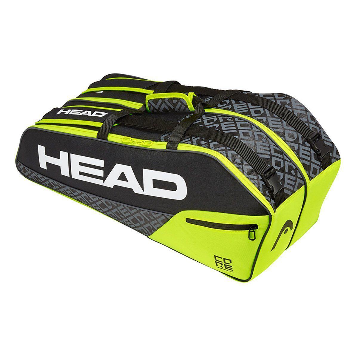 Raqueteira Head  Core Combi 6R Preto   - REAL ESPORTE