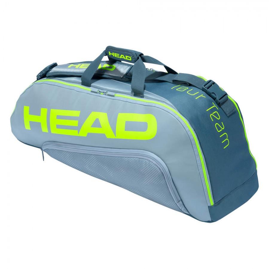 Raqueteira Head Extreme 6R Combi - Cinza + Brinde Bola  - REAL ESPORTE