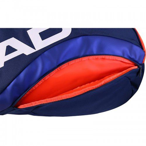 Raqueteira Head Radical 6R Combi New Azul e Laranja  - REAL ESPORTE