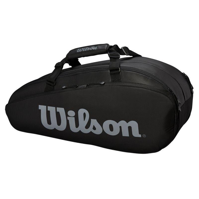Raqueteira Wilson Tour Comp 2 X6 - Preto  - REAL ESPORTE