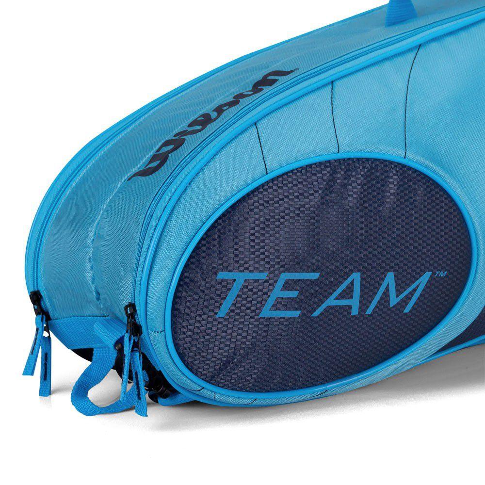 Raqueteira Wilson x 6 Team Azul    - REAL ESPORTE