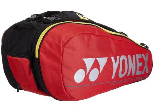 Raqueteira Yonex Pro X9 - Vermelha/Preto  - REAL ESPORTE