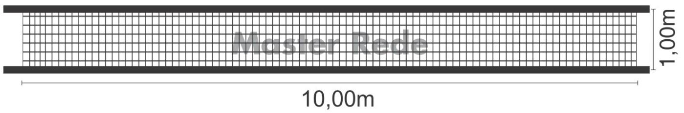 Rede de Vôlei Master Rede 2 Faixas Fio 4mm - Seda  - REAL ESPORTE