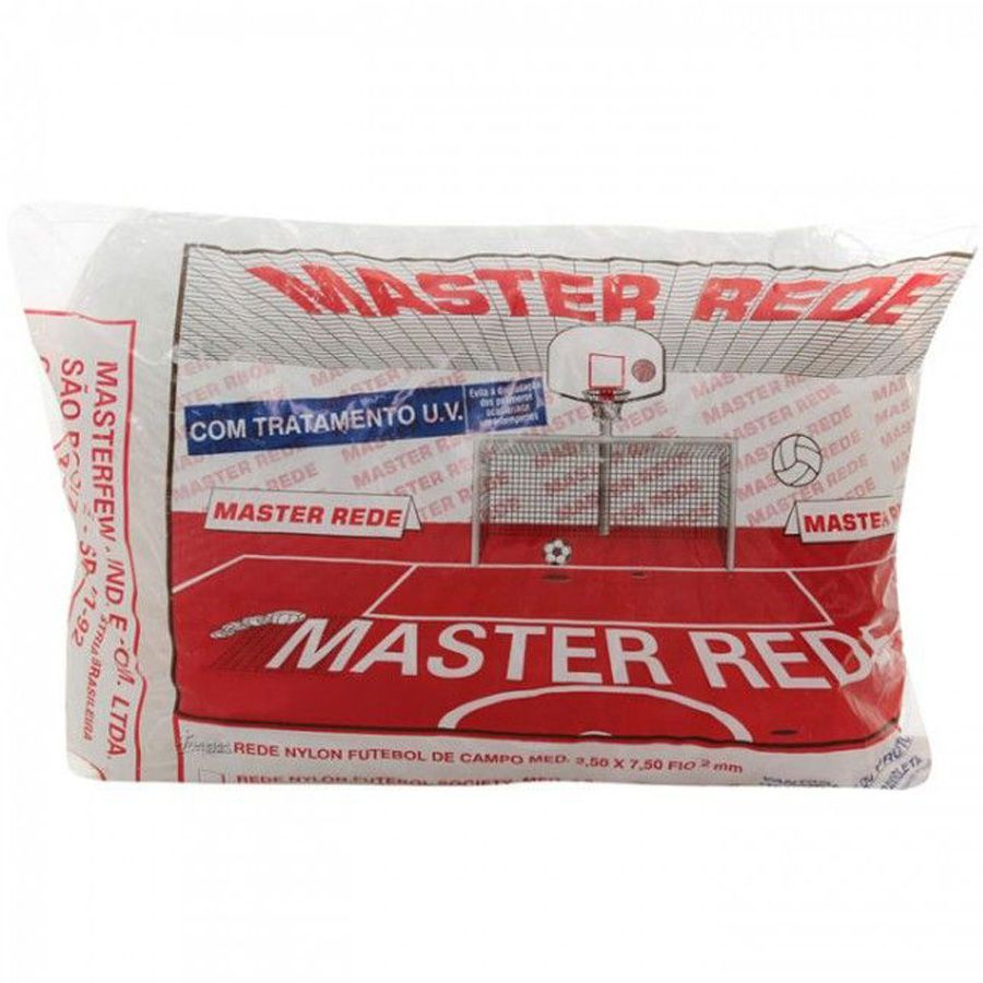 Rede para Futebol Society 6M Master Rede - Nylon  - REAL ESPORTE