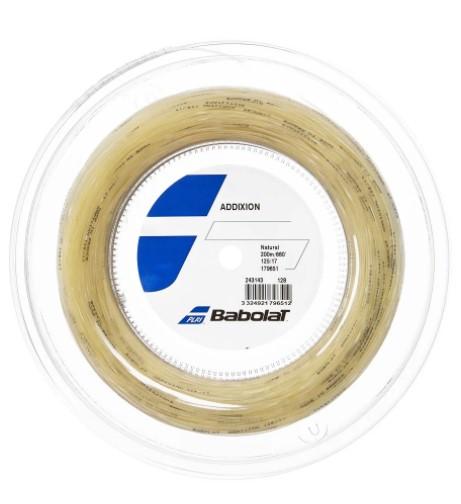 Rolo de Corda Babolat Addixion 125/17 200M - Natural  - REAL ESPORTE