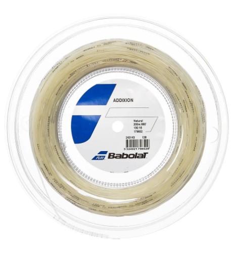 Rolo de Corda Babolat Addixion 130/16 200M - Natural  - REAL ESPORTE