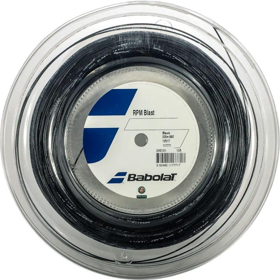 Corda Babolat RPM Blast 17 1.25mm Copolímero Preto - Rolo com 200  - REAL ESPORTE
