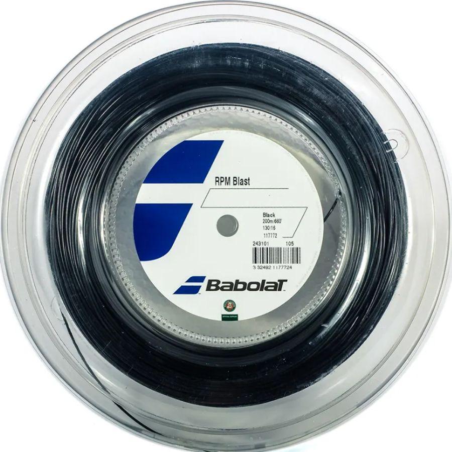 Corda Babolat RPM Blast 1.30 16 Rolo 200 Metros Preta  - REAL ESPORTE