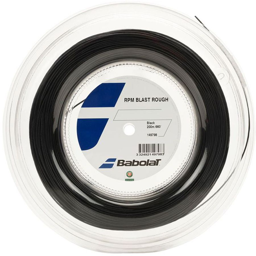 Corda Babolat RPM Blast Rough 1.25 17 Rolo 200 Metros - Preta  - REAL ESPORTE