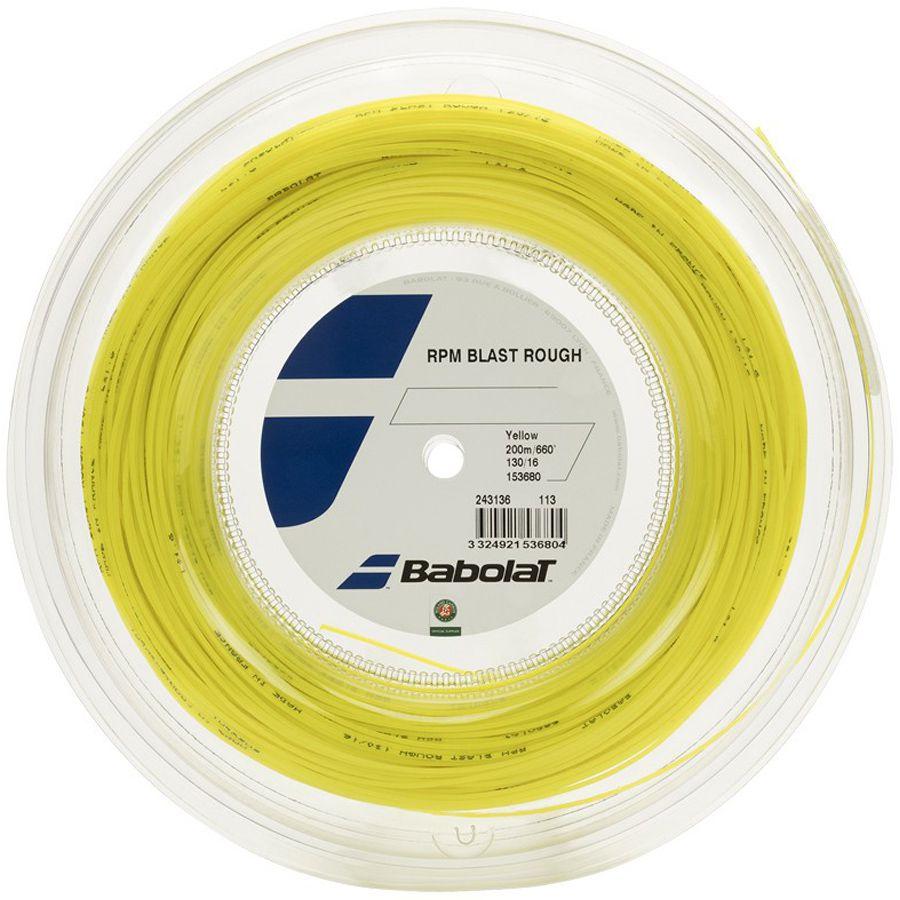 Corda Babolat RPM Blast Rough 125 17 Rolo 200 Metros - Amarela  - REAL ESPORTE