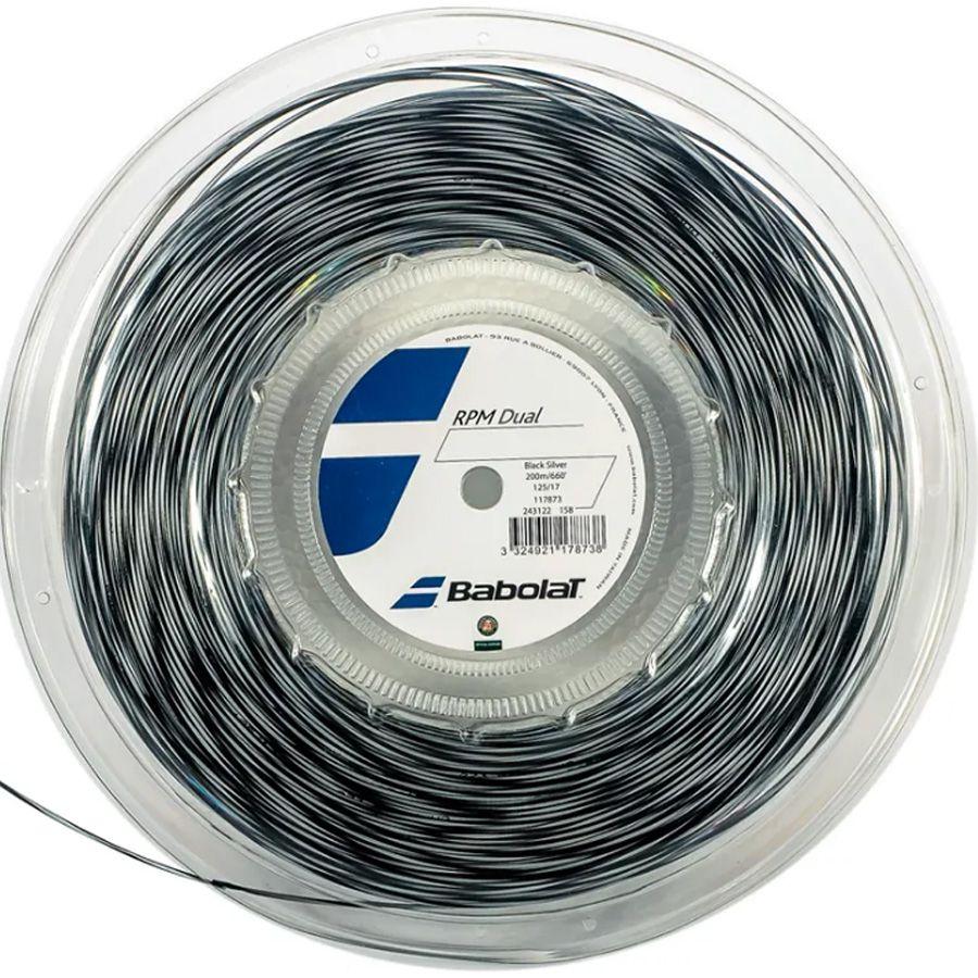 Corda Babolat RPM Dual 1.25 17 Rolo 200 Metros - Cinza  - REAL ESPORTE