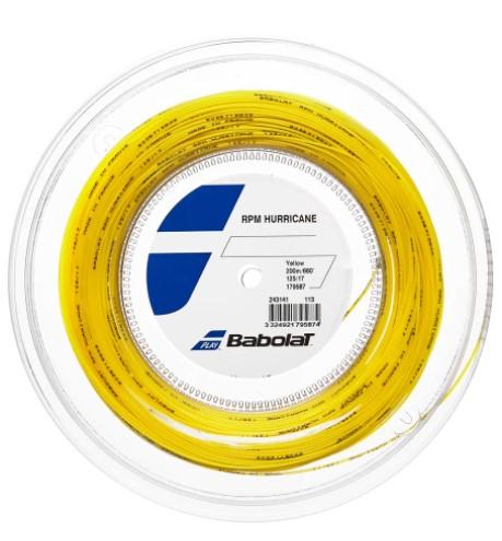Rolo de Corda Babolat Rpm Hurricane 125/17 200M - Amarelo  - REAL ESPORTE