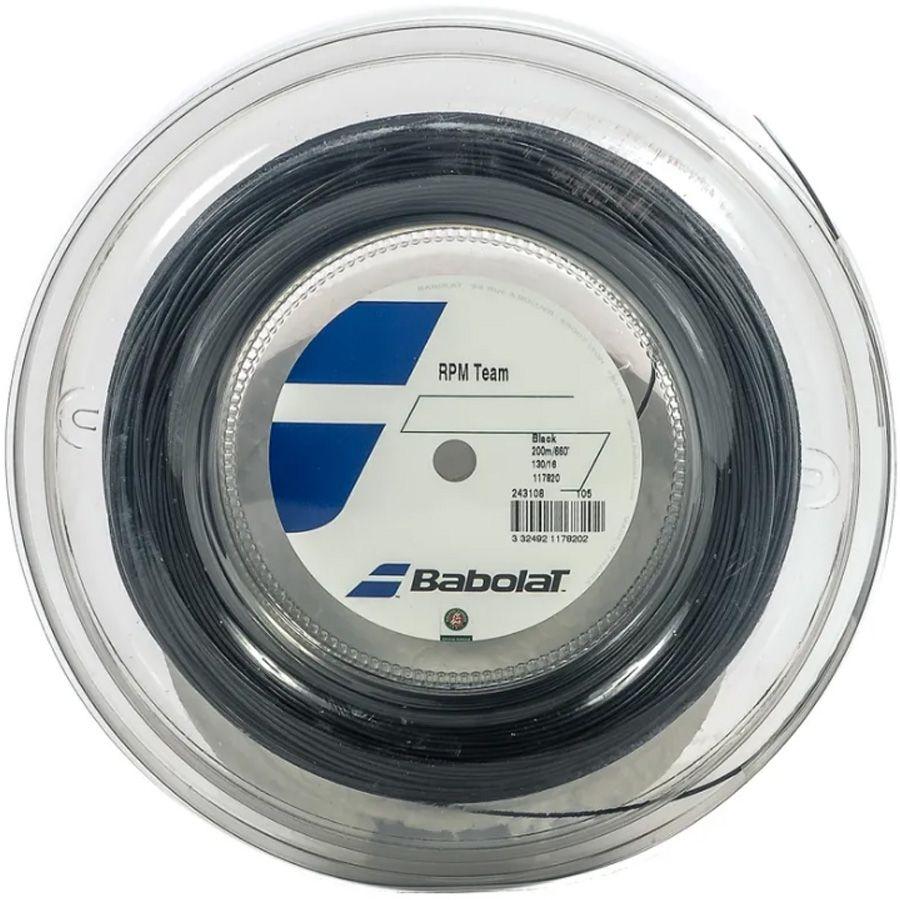 Corda Babolat RPM Team 130 16 Rolo 200 Metros - Preta  - REAL ESPORTE