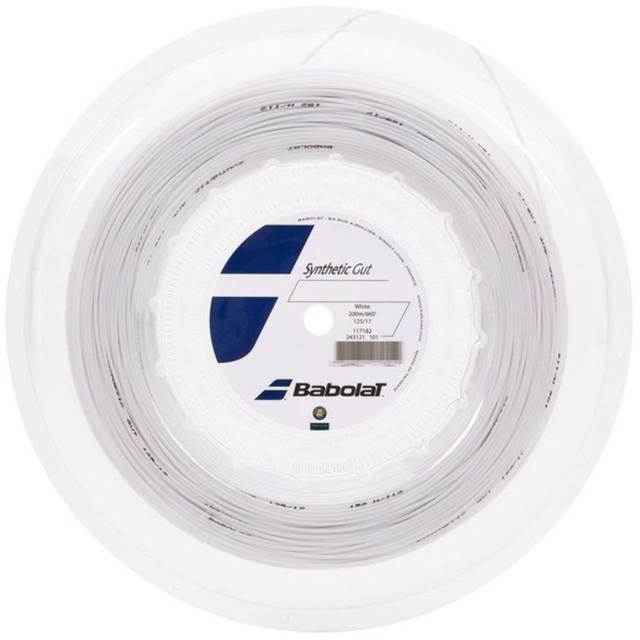 Corda Babolat Synthetic Gut 125 17 Rolo 200 Metros - Branca  - REAL ESPORTE