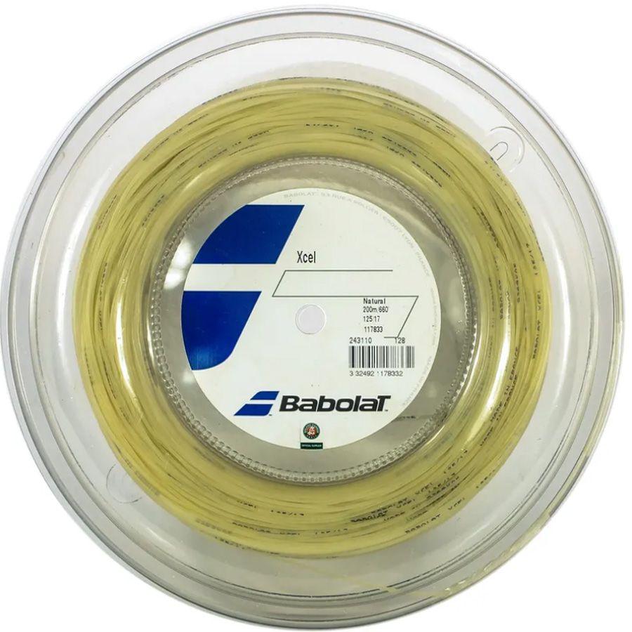 Corda Babolat Xcel 125 17 Rolo 200 Metros - Natural  - REAL ESPORTE