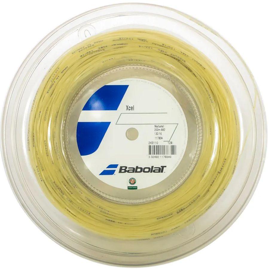 Corda Babolat Xcel 130 16 Rolo 200 Metros - Natural  - REAL ESPORTE