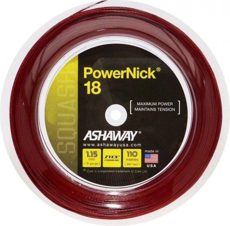 Rolo De Corda De Squash Ashaway Powernick 18 1.15mm com 110 Metros  - REAL ESPORTE