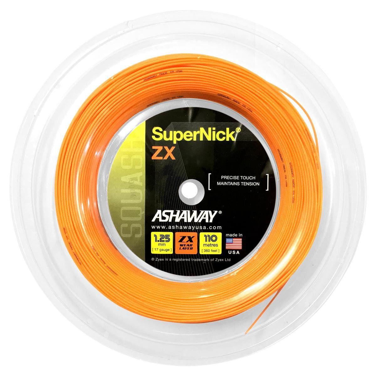 Rolo De Corda De Squash Ashaway Supernick 17 1.25mm com 110 Metros  - REAL ESPORTE