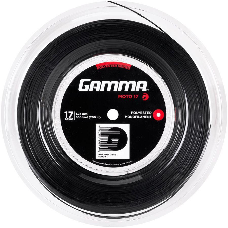 Rolo Corda Gamma Moto 124 17  200 Metros - Preta  - REAL ESPORTE