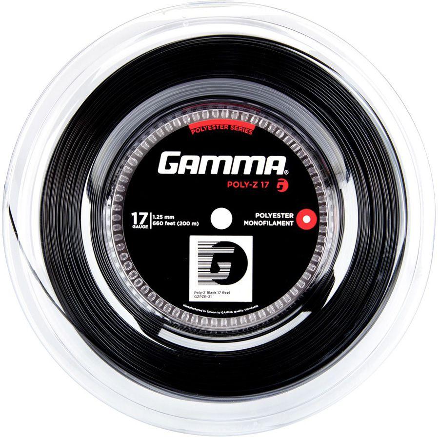 Corda Gamma Poly Z 125 17 Rolo 200 Metros - Preta  - REAL ESPORTE