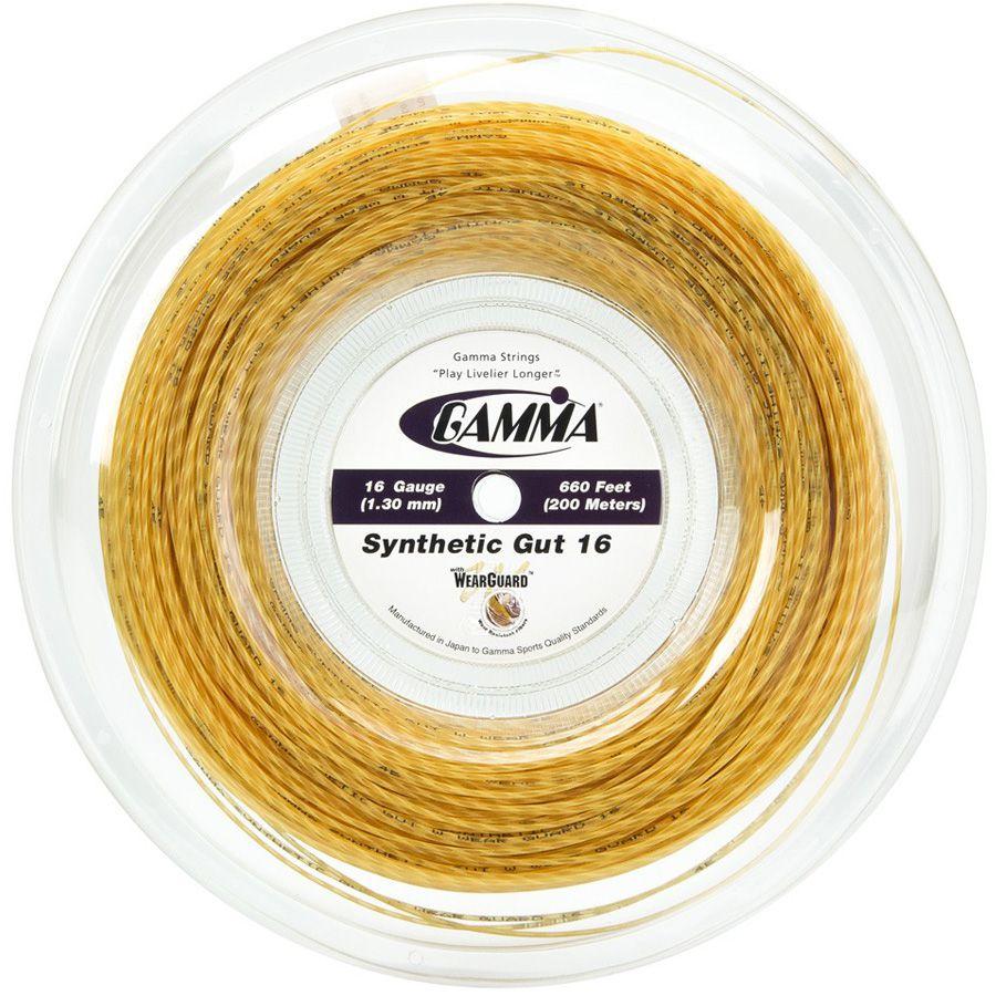Corda Gamma Synthetic Gut 16 Rolo 200 Metros - Amarela  - REAL ESPORTE
