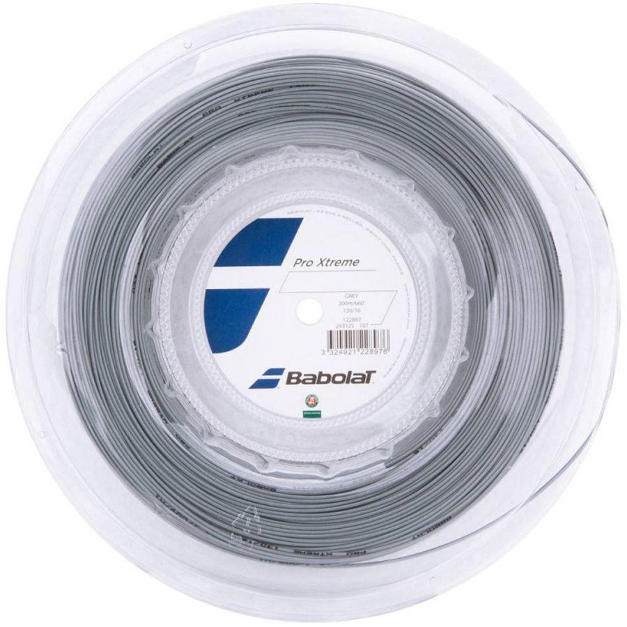 Corda Babolat Pro Xtreme 125 17 Rolo 200 Metros - Cinza  - REAL ESPORTE