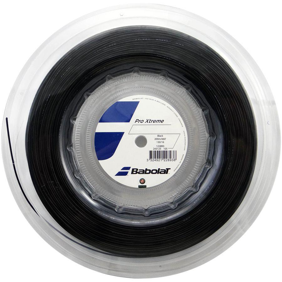 Corda Babolat Pro Xtreme 125 17 Rolo 200 Metros - Preta  - REAL ESPORTE