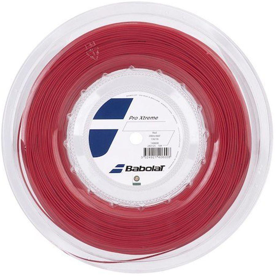 Corda Babolat Pro Xtreme 130 16 Rolo 200 Metros - Vermelha  - REAL ESPORTE