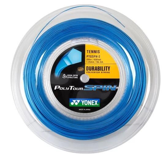 Rolo De Corda Yonex Poly Tour Spin 1.25/16 200 Metros - Azul  - REAL ESPORTE