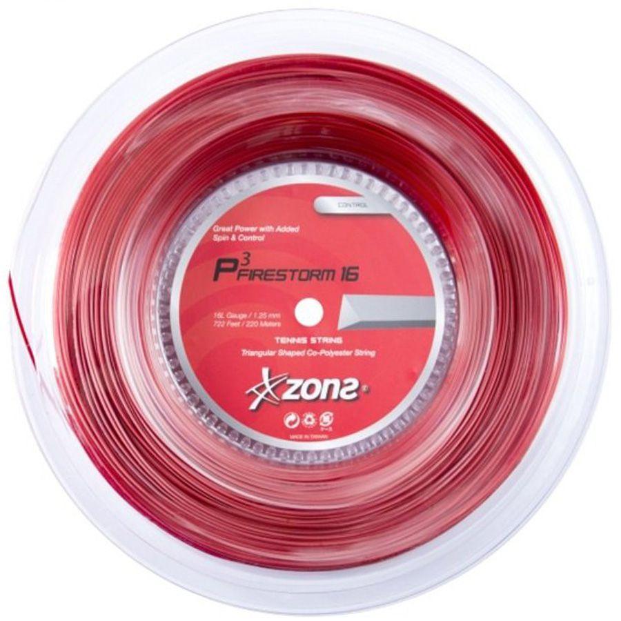 Corda Zons Firestorm 16 Rolo 200 Metros - Vermelha  - REAL ESPORTE