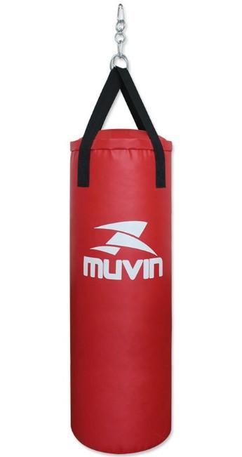 Saco de Pancada Muvin 110cm x 40cm – SCP-200 - Vermelho  - REAL ESPORTE