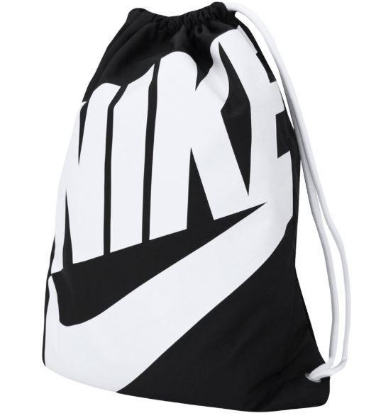 Sacola Nike Heritage Hym 13 Litros - preto e Branco  - REAL ESPORTE