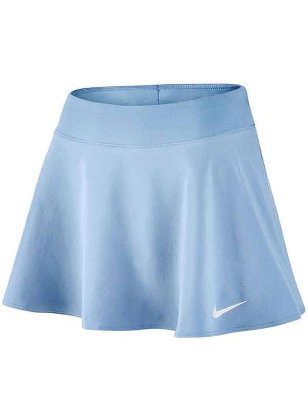 Short Saia Nike Pure Flex Flounce - Azul Claro  - REAL ESPORTE