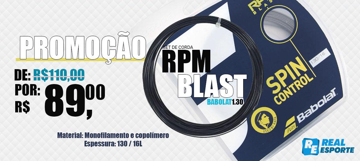 Set de Corda Babolat RPM Blast 1.30/16 - Preta  - REAL ESPORTE