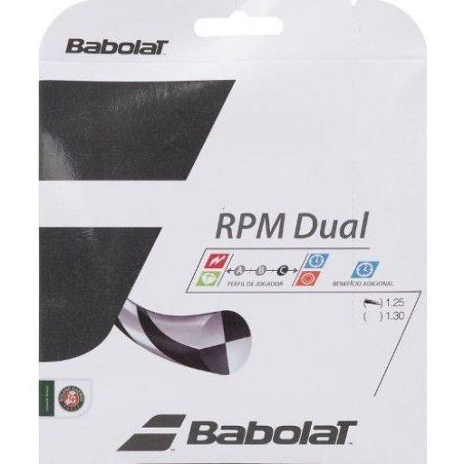 Corda Babolat RPM Dual 17 1.25MM 11.75M Set Individual  - REAL ESPORTE